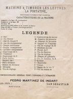 """(1920ca). Folleto-anuncio En Desplegable MACHINE A TIMBRER LES LETRES """"LA PORTATIVE"""", Con Ilustraciones De Ejemplo De Ca - Unclassified"""