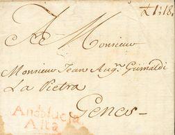Sobre . 1763. SEVILLA A MADRID. Marca ANDALUCIA / ALTA, En Rojo (P.E.4) Edición 2004 Y Al Dorso Marca CORREO / GRAL DE / - Unclassified