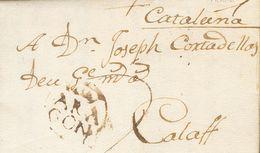 Sobre . 1789. BALLOBAR (HUESCA) A CALAF. Marca ARA / GON, De Fraga, En Tinta De Escribir (P.E.1) Edición 2004. MAGNIFICA - Unclassified