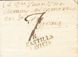 Sobre . 1823. NAVA DEL REY (VALLADOLID) A VITORIA. Marca N / CASTILLA / LAVIEJA, De Nava Del Rey (P.E.2) Edición 2004. M - Unclassified