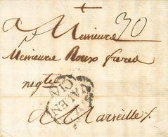 Sobre . 1776. VALENCIA A MARSELLA (FRANCIA). Marca .V. / VALEN / CIA, En Negro (P.E.15) Edición 2004. MAGNIFICA Y MUY RA - Unclassified