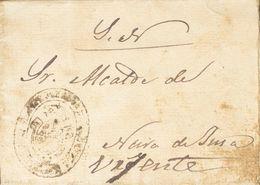 """Sobre . 1870. BARALLA (LUGO) A NEIRA DE JUSA. Marca De Franquicia (no Legible) Y Anotación Manuscrita """"Urjente"""" Y Al Dor - Unclassified"""