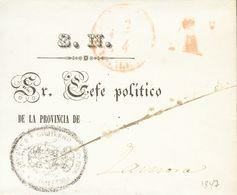 """Sobre . 1847. PALMA DE MALLORCA A ZAMORA. Marca """"As"""", En Rojo De Abono (P.E.22) Edición 2004. MAGNIFICA. - Unclassified"""
