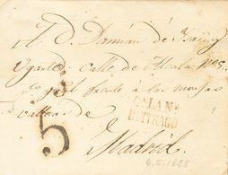Sobre . 1828. CABANILLAS DE LA SIERRA (MADRID) A MADRID. Marca Cª. LA. Nª. / BUITRAGO, En Rojo-marrón (P.E.3) Edición 20 - Unclassified