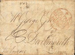 Sobre . 1784. CARTAGENA A DARTMOUTH (GRAN BRETAÑA). Marca CARTAGª / REYNO DE / MURCIA (P.E.12) Edición 2004. BONITA Y RA - Unclassified