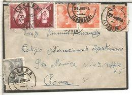 ARNEDO LA RIOJA CC 1954 A ROMA ITALIA  CON LLEGADA - 1931-Oggi: 2. Rep. - ... Juan Carlos I