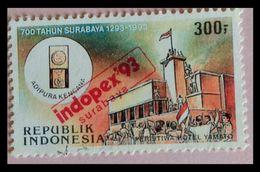 110. INDONESIA 1993 USED STAMP REVOLUTION , OVER PRINT . - Indonesia