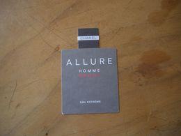 Carte Chanel Allure Homme - Cartes Parfumées