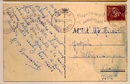Flamme Célébrez L'anniversaire De La Légion 1943 Cannes - Postmark Collection (Covers)