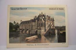 CACAO  VAN  HOUTEN   - CHATEAU  DE  CHENONCEAUX     - PUBLICITE  CHOCOLAT - Van Houten