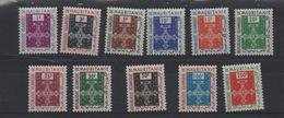 LOT 442 - MAURITANIE SERVICE   N° 1/11 * -    Cote  11.50 € - Mauritania (1960-...)