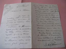 LETTRE AUTOGRAPHE SIGNEE D'EMILE PAILLARD 1917 MAIRE VITRY-LE-FRANCOIS GUERRE 14-18 Au Baron JOSEPH DE BAYE - Autografi