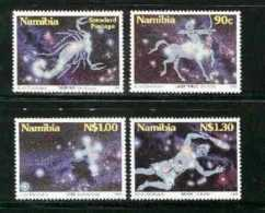 NAMIBIA, 1996, MNH  Stamps, Zodiac Stars, Michel 819-822, #13227 - Namibia (1990- ...)