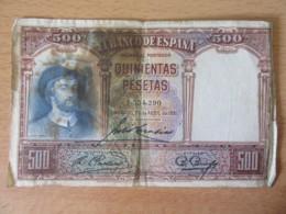 Espagne / Espana - Billets 500 Pesetas 1931 - [ 2] 1931-1936 : Repubblica