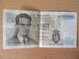 Belgique - Billet 20 Francs 1964 - [ 6] Treasury