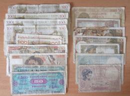 France - Collection De 17 Billets Dont 100 Francs Sully Et Jeune Paysan, Trésor, Etc... - 1937 à 1979 - Frankrijk