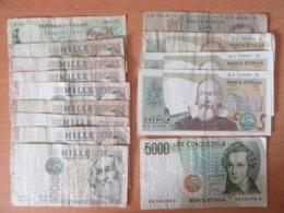 Italie / Italia - 14 Billets De 500 à 5000 Lire - 1969 à 1985 - Etat D'usage à SUP - [ 9] Collezioni