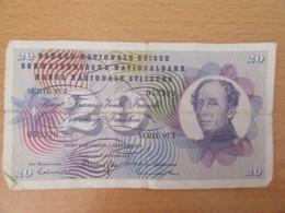 Suisse - Billet De 20 Francs 1974 Série 97 I - Etat Correct - Svizzera