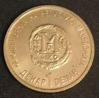 MACEDOINE - MACEDONIA - 1 DENAR 2000 - KM 9 - ( 2000 Ans Du Christianisme ) - Macédoine