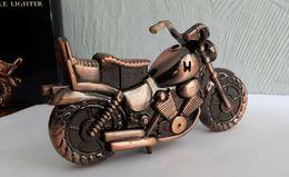 *Rare* Briquet De Table MOTO Rechargeable, Année 1998  Metal Bronze , 13cm - Automobile - F1