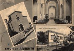 CT-03841- SALUTI DA ARGENTA  3 VEDUTINE  VIAGGIATA 1957 - Other Cities