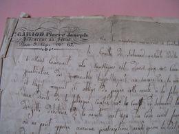 LETTRE AUTOGRAPHE SIGNEE DE PIERRE-JOSEPH GARIOD 1845 PROCUREUR SENAT Au COMTE DE SALLMARD ISERE - Autografi