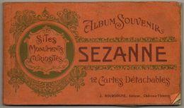CARNET DE 12 CPA SEZANNE ALBUM SOUVENIR - Sezanne