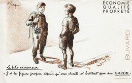 """Buvard """" Le Petit Ramoneur """" J'ai La Figure Propre Depuis Que Mes Clients N'brûlent Que Du COKE - Blotters"""