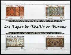 WALLIS ET FUTUNA - BLOC FEUILLET N° 10 * * - ARTISANAT LES TAPAS - LUXE - Blocks & Sheetlets