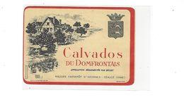ETIQUETTE  CALVADOS  DU DOMFRONTAIS  MAUGER A ST GEORGES CEAUCE  ORNE *****    A  SAISIR  ***** - Altri