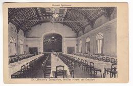 CP1310 Weisser Hirsch Bei Dresden Dr. Lahmanns Sanatorium Grosser Speisesaal Large Dining Room - Dresden