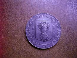 MEDAILLE - VIRIBUS UNITIS - L' Union Fait La Force - SOCIETE DES AGRICULTEURS DE FRANCE - Signée CH. Millet  Circa 1900 - Professionnels / De Société