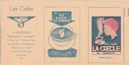 MARCINELLE CAFE LA CREOLE PETIT CALENDRIER ANNEE 1953 AVEC BON RECLAME - Calendriers