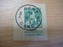 (12.07) BELGIE 1912  Mooie Afstempeling GENT - 1912 Pellens