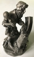 Tin - Etain - Zinn - Master Craftsmen Of The Renaissance - Quirin Roth - Fine Pewter - Franklin Mint - The Stonemason - Etains
