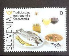 SLOVENIA  2020,Euromed Postal, Gastronomy, Food; Wine ,vine,  Jota , Olive Oil,MNH - Eslovenia
