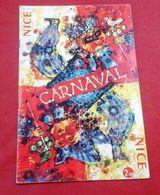 Programme Carnaval De Nice 1963 Illustrée Par Théo Tobiasse Tous Les Groupes Et Chars Batailles De Fleurs - Programme