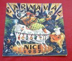 Programme Carnaval De Nice 1957 Illustrée Par Théo Tobiasse Tous Les Groupes Et Chars Batailles De Fleurs - Programme