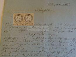 D172637 Old Document - Josef Hohenberger  1869 - 2 X 25 Kr Revenue Stamps Austria - Nacimiento & Bautizo