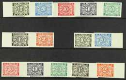 POSTAGE DUES  1945 Both Complete IMPERF Sets (SG D1130A/36A & D1130B/30B, Michel 39/45 I+II, COB TX49/55 & TX49A/55A), S - Bélgica