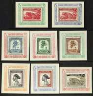 BELGIAN CONGO  1949 UPU Surcharges Miniature Sheets Complete Set, COB BL3A/10A (see Notes After SG 269 & Scott 225), Nev - Bélgica
