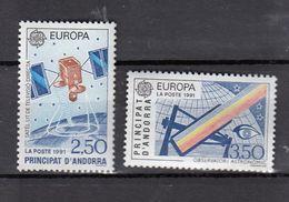 & Andorre 405 / 403  .. Europa CEPT 1991 .. Espace Satellite** MNH ... Cote YT 2020 = 24.00 € - Europa-CEPT