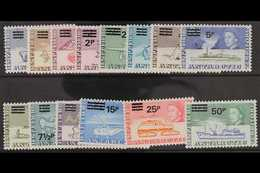 1971  Decimal Surcharges Set, SG 24/37, Fine Never Hinged Mint. (14 Stamps) For More Images, Please Visit Http://www.san - Territoire Antarctique Britannique  (BAT)