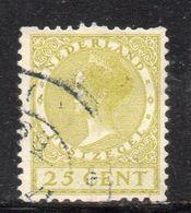 W1111 - OLANDA PAESI BASSI 1924 , 25 Cent Unificato N. 146 Usato. Macchinette - 1891-1948 (Wilhelmine)