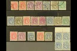1893 - 1913 QUEEN MAKEA TAKAU ISSUES  1893 Vals To 5d Olive, Perf 11 Vals To 10d Used, 1899 ½d On 1d Blue, 1902 No Wmk O - Cook Islands