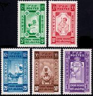 ✔️ Ethiopia Ethiopie 1936 - Red Cross Unissued Due To Occupation Addis Abeba - Mi. I/V ** MNH - €50 - Ethiopia