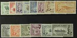 1952  Complete Pictorial Set, SG 172/185, Fine Mint. (14 Stamps) For More Images, Please Visit Http://www.sandafayre.com - Falkland