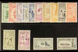 1952  KGVI Definitives Complete Set, SG 172/85, Very Fine Never Hinged Mint. (14 Stamps) For More Images, Please Visit H - Falkland