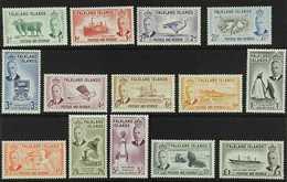 1952  KGVI Definitives Complete Set, SG 172/85, Never Hinged Mint. (14 Stamps) For More Images, Please Visit Http://www. - Falkland