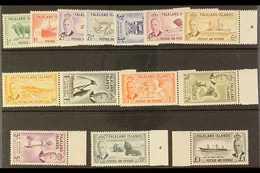 1952 MARGINAL SET.  KGVI Definitives Complete Set, SG 172/85, Never Hinged Mint. (14 Stamps) For More Images, Please Vis - Falkland